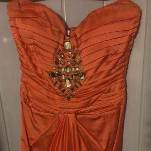 Small Orange Bebe dress